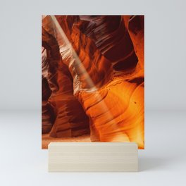 BEAM OF LIGHT ANTELOPE CANYON ARIZONA PHOTOGRAPHY Mini Art Print