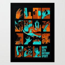 HAPPY BIRTHDAY SPIDEY! Art Print