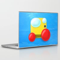 yellow submarine Laptop & iPad Skins featuring Submarine by Bryan Keir