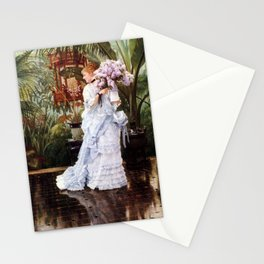 Lilacs Botanical Garden portrait by James Tissot Stationery Cards