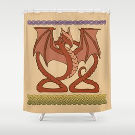 Red Dragons Shower Curtain