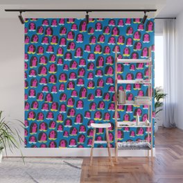 Pattern Project / Pink Heads Wall Mural