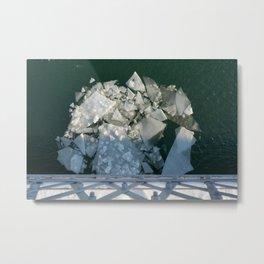 Ice Off the Bridge Metal Print