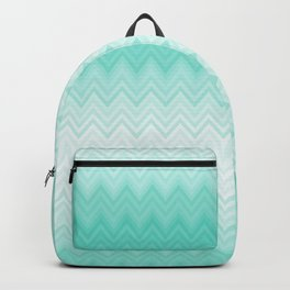 Fading Teal Chevron Backpack