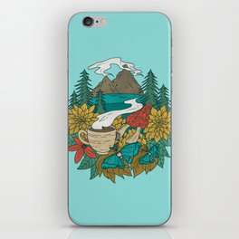 Pacific Northwest Coffee and Nature iPhone Skin