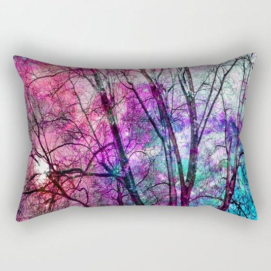 Purple teal forest Rectangular Pillow