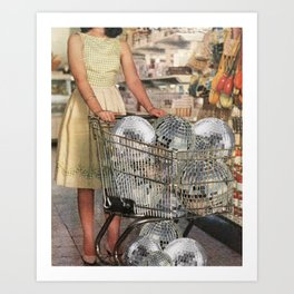 (Disco)unt Supermarket Art Print