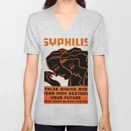 Vintage poster - Syphilis Unisex V-Neck
