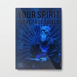 Aikido O Sensei Quote Metal Print
