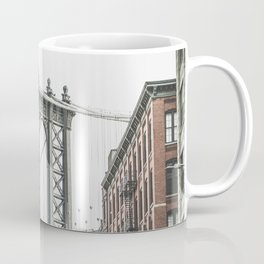 Manhattan bridge from DUMBO, Brooklyn, New York city, Washington Street, Williamsburg photography Coffee Mug