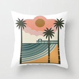 The Pier Throw Pillow