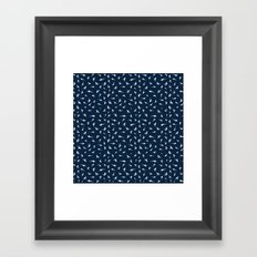 Silky Sharks Pattern Framed Art Print