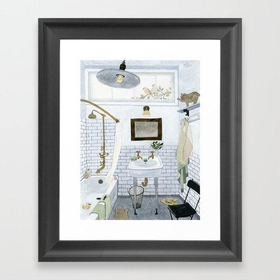 In The Bathroom Framed Art Print By Yuliya Society6