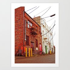 Alley architecture Art Print