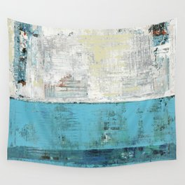 Fairbanks Abstract Light Blue White Wall Tapestry