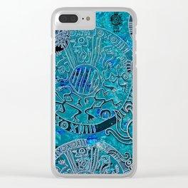 Aztec blues Clear iPhone Case