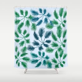 leaves on a sunny day Shower Curtain