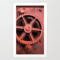 Gearing - rust tint. Art Print