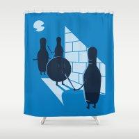 vendetta Shower Curtains featuring Vendetta by grodas