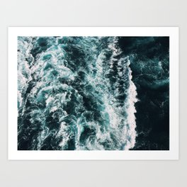 Green Seas, Yes Please Art Print