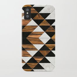 Urban Tribal Pattern 9 - Aztec - Concrete and Wood iPhone Case