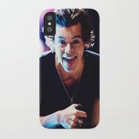 harry styles iPhone & iPod Cases featuring Harry Styles by harrystyless