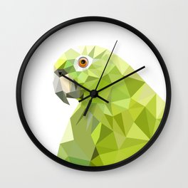 Parrot art Southern mealy amazon parrot Wall Clock