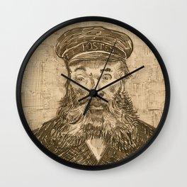 Portrait of Postman Joseph Roulin by Vincent van Gogh Wall Clock