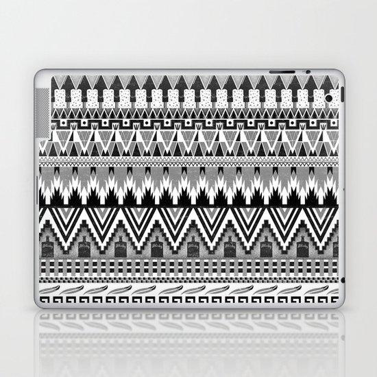 WHISKY AZTEC B/W  Laptop & iPad Skin