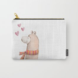 Happy Chubby Llama Carry-All Pouch