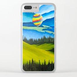 Acrylic Hot Air Balloons Clear iPhone Case