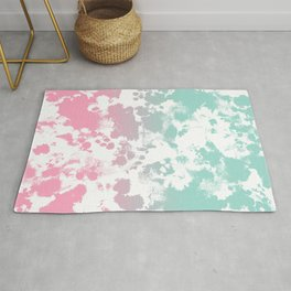 Margot - abstract painting mint and pink pastel trendy girly home decor dorm college gifts Rug