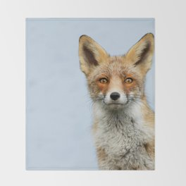 That Foxy Face Throw Blanket