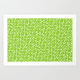 Control Your Game - White on Lime Art Print