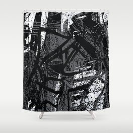 stroke of madness Shower Curtain