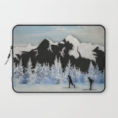 Cross Country Skiing Laptop Sleeve