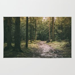Mysterious Forest Path Rug