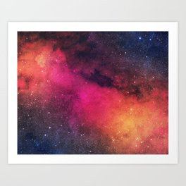 Born in Nebula Art Print