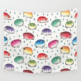 Round Rain Frogs Wall Tapestry
