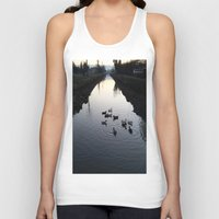 ducks Tank Tops featuring Ducks by theedwardiangirl