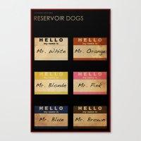 reservoir dogs Canvas Prints featuring Reservoir Dogs by Impale Design