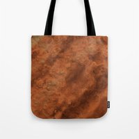mars Tote Bags featuring Mars by Lyle Hatch