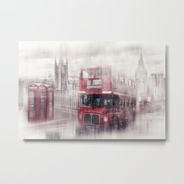 City Art LONDON Westminster Collage Metal Print
