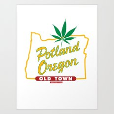 Potland Oregon Art Print