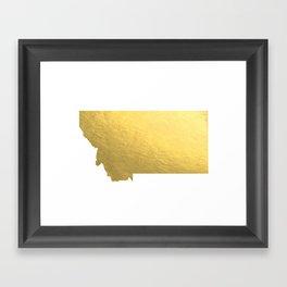 Montana State Printable Art Montana Art Printable Montana Map Printable Faux Gold Foil Printable Wal Framed Art Print