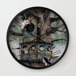 '恐怖核心與小鳥 Scarecore and Bird' Cover Illustration Wall Clock