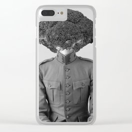 Soldier Broccoli. 1901. Clear iPhone Case