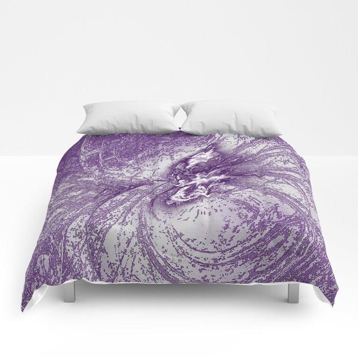 Splatter in Grape Comforters