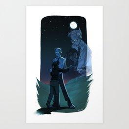 Portal Blue Sky: Like Real People Do Art Print