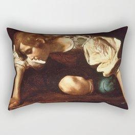 """Michelangelo Merisi da Caravaggio """"Narcissus"""" Rectangular Pillow"""